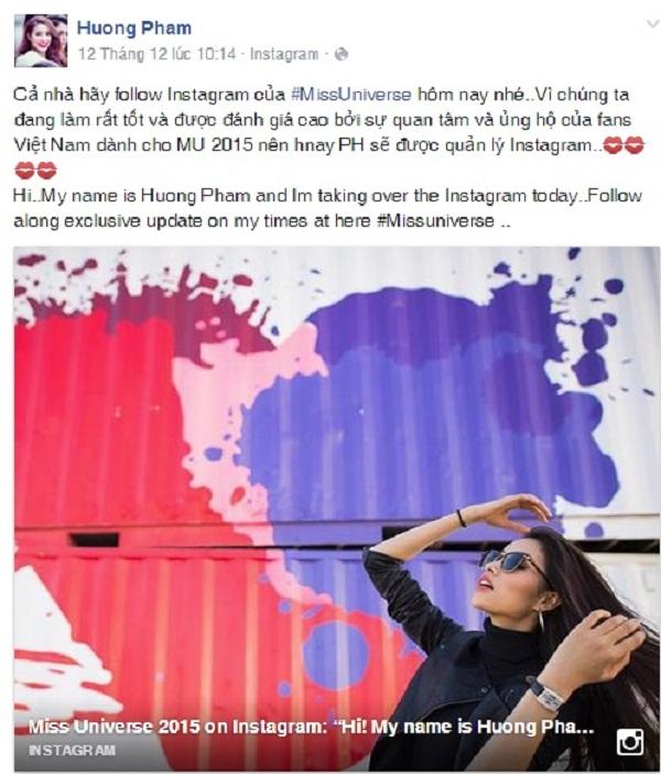 """Nhìn lại chặng đường khiến fan Việt tự hào về Phạm Hương tại """"Hoa hậu hoàn vũ 2015"""" - Ảnh 5."""