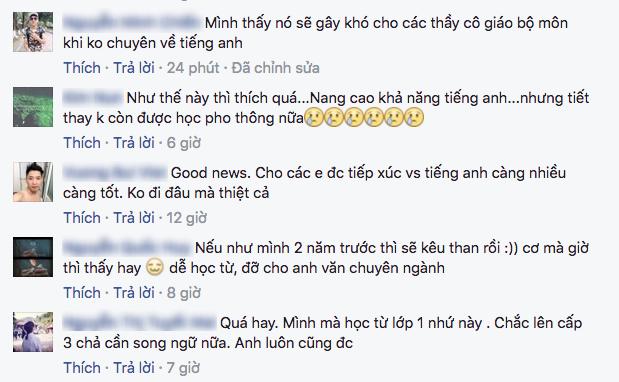 Nhiều học sinh bất ngờ với thông tin sẽ có sách giáo khoa song ngữ Việt - Anh - Ảnh 6.