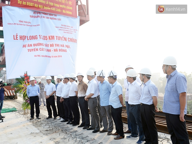 Hợp long toàn tuyến đường sắt trên cao Cát Linh - Hà Đông - Ảnh 1.