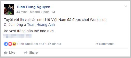 MC Phan Anh, Tuấn Hưng... cũng phát cuồng với chiến tích dự World Cup của U19 Việt Nam