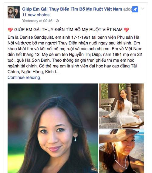 Hành trình 1.000 ngày của cô gái Thụy Điển về Việt Nam tìm lại bố mẹ ruột thất lạc suốt 25 năm qua - Ảnh 1.