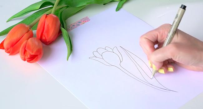 Học vẽ 3 kiểu hoa dễ như đùa mà vẫn đẹp - Ảnh 6.