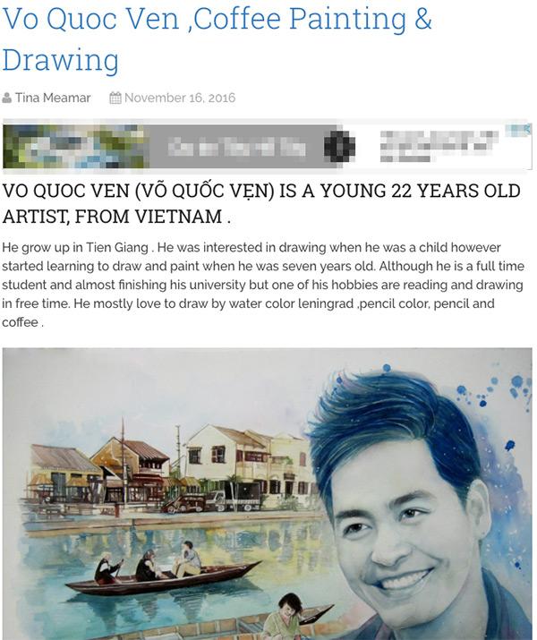 9X chuyên vẽ chân dung sao Việt được vinh danh trên tạp chí nghệ thuật nổi tiếng hàng đầu của Mỹ - Ảnh 3.