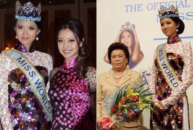 Ngắm các mỹ nhân thế giới đẹp dịu dàng trong tà áo dài Việt Nam - Ảnh 18.