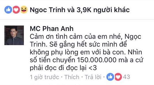 Ngọc Trinh bị nghi chỉ làm màu việc đóng góp 150 triệu, Phan Anh nhanh chóng lên tiếng trần tình - Ảnh 2.