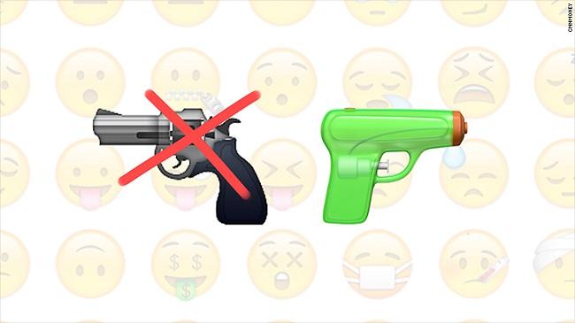 Apple quyết định thay biểu tượng emoji hình khẩu súng thành... súng nước - Ảnh 1.