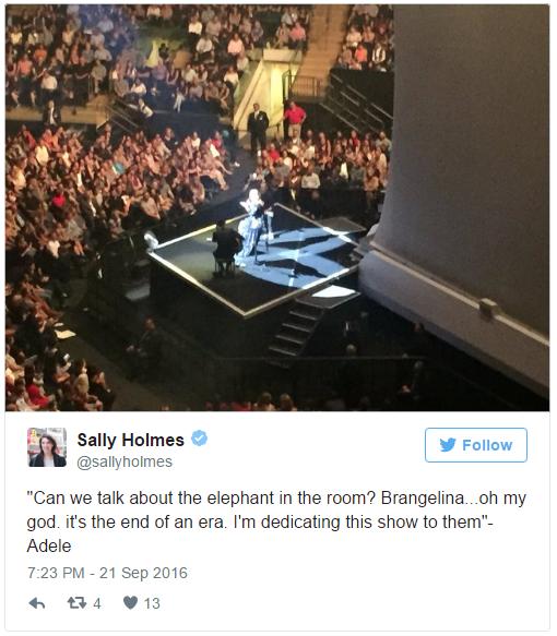 Adele chẳng quan tâm một tí nào đến chuyện Brangelina chia tay - Ảnh 1.