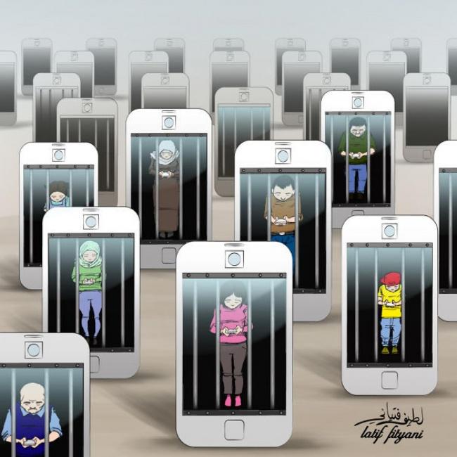 Loạt tranh vẽ chứng minh smartphone đã ảnh hưởng đến cuộc sống chúng ta thế nào - Ảnh 11.