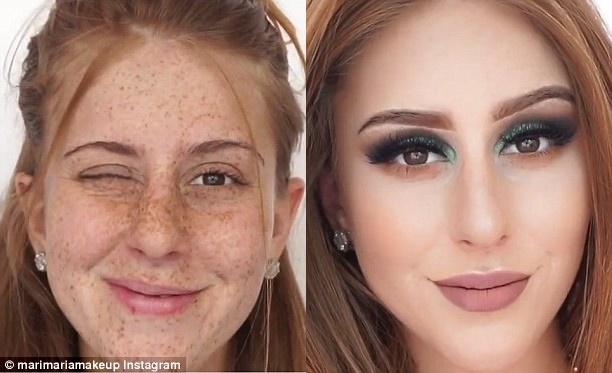 Sở hữu gương mặt đầy tàn nhang, cô nàng này đã trở nên cực xinh đẹp sau vài bước trang điểm - Ảnh 4.