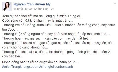 Các sao Việt cũng đang cùng chung tay giúp đỡ đồng bào lũ lụt miền Trung - Ảnh 6.