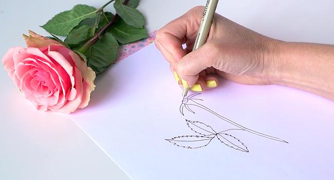Học vẽ 3 kiểu hoa dễ như đùa mà vẫn đẹp - Ảnh 13.