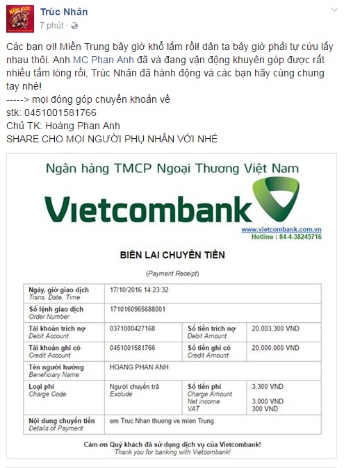 Các sao Việt cũng đang cùng chung tay giúp đỡ đồng bào lũ lụt miền Trung - Ảnh 8.