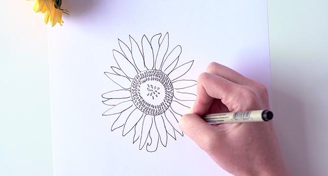 Học vẽ 3 kiểu hoa dễ như đùa mà vẫn đẹp - Ảnh 22.
