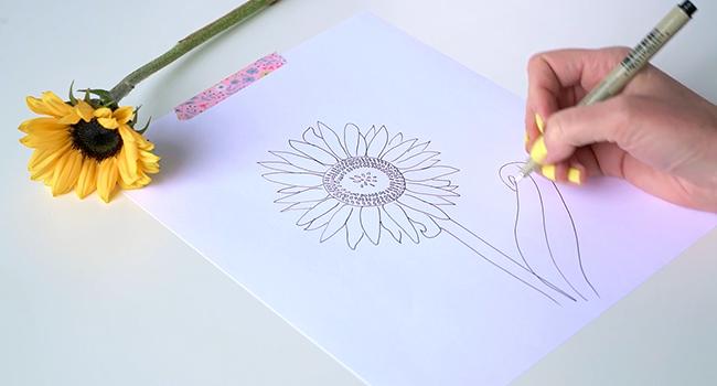 Học vẽ 3 kiểu hoa dễ như đùa mà vẫn đẹp - Ảnh 23.