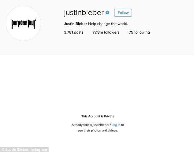 Justin Bieber xóa tài khoản hơn 77 triệu follower trên Instagram sau trận tranh cãi với Selena - Ảnh 1.