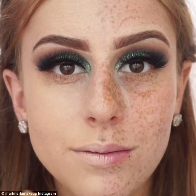 Sở hữu gương mặt đầy tàn nhang, cô nàng này đã trở nên cực xinh đẹp sau vài bước trang điểm - Ảnh 2.
