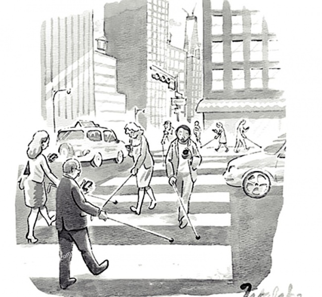 Loạt tranh vẽ chứng minh smartphone đã ảnh hưởng đến cuộc sống chúng ta thế nào - Ảnh 10.