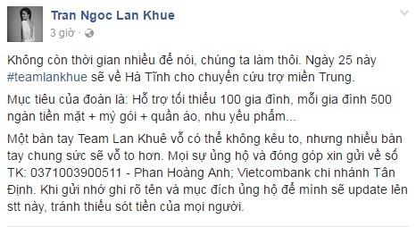 Các sao Việt cũng đang cùng chung tay giúp đỡ đồng bào lũ lụt miền Trung - Ảnh 7.