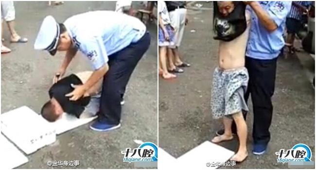 Gã đàn ông giả trang cụt tay đi ăn xin bị vạch trần trước sự chứng kiến của hàng trăm người - Ảnh 2.