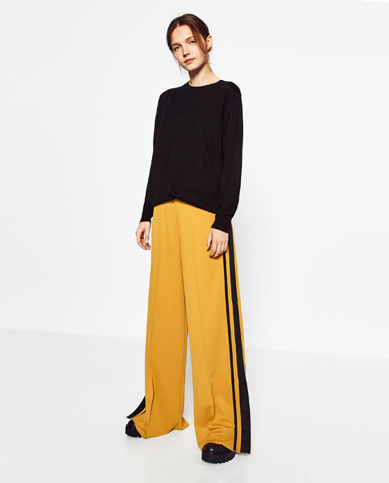 Mẫu quầntuxedo striped pants
