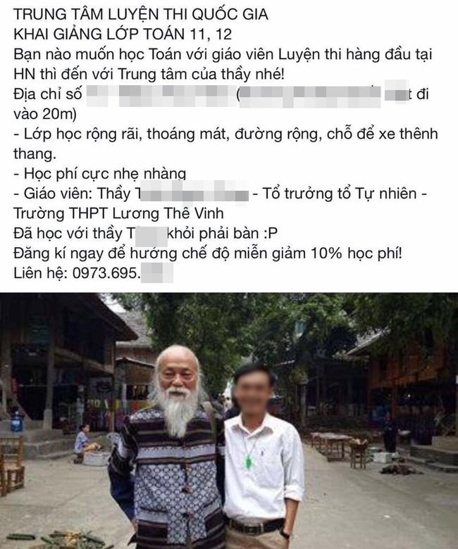 Con gái GS. Văn Như Cương bức xúc vì hình ảnh bố mình bị lợi dụng quảng cáo cho trung tâm gia sư - Ảnh 2.