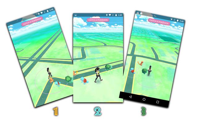 Muốn bắt Pokemon bạn có thể bấm vào trực tiếp chú Pokemon đó hoặc bấm vào Catch the Pokemon