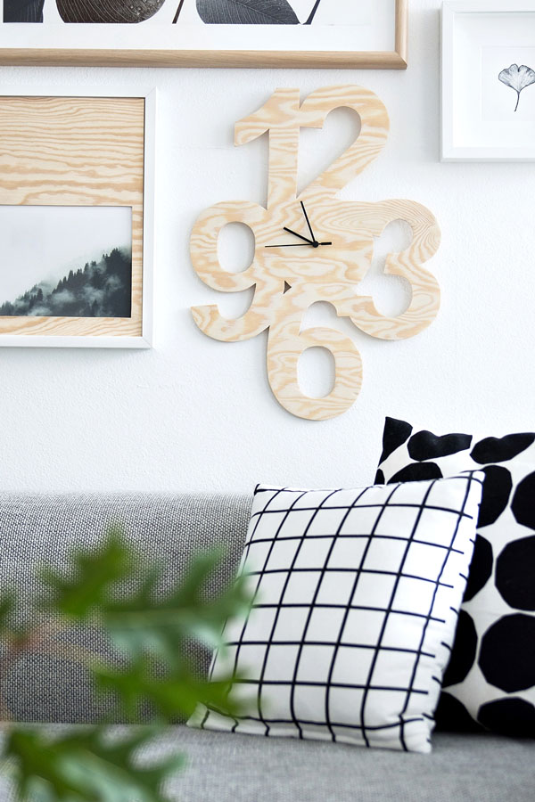Khéo tay đẽo gỗ làm đồng hồ treo tường không đụng hàng - Ảnh 6.