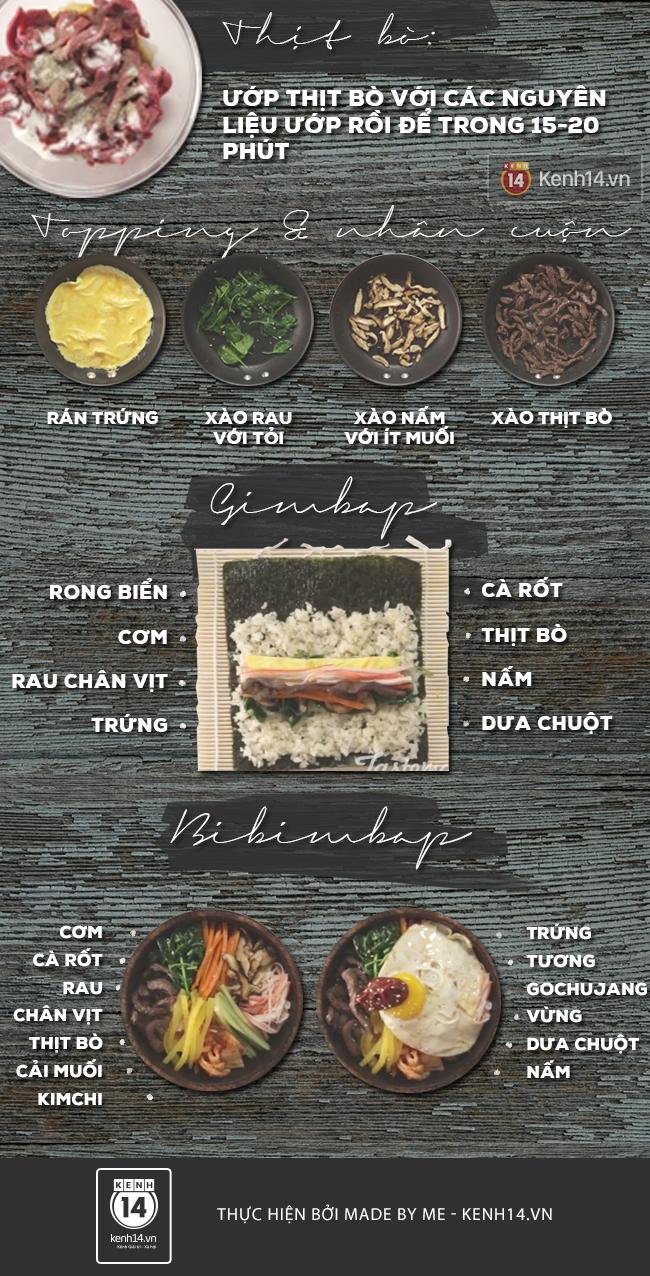 Vừa kimbap vừa cơm bibimbap chỉ trong 1 công thức - Ảnh 3.