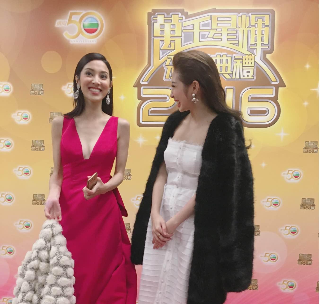 Khổng Tú Quỳnh tham dự lễ trao giải TVB, đọ dáng cùng Hoa hậu Hồng Kông