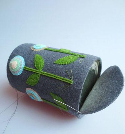 Khéo léo khâu may vải dạ làm thành lọ cắm bút - Ảnh 10.