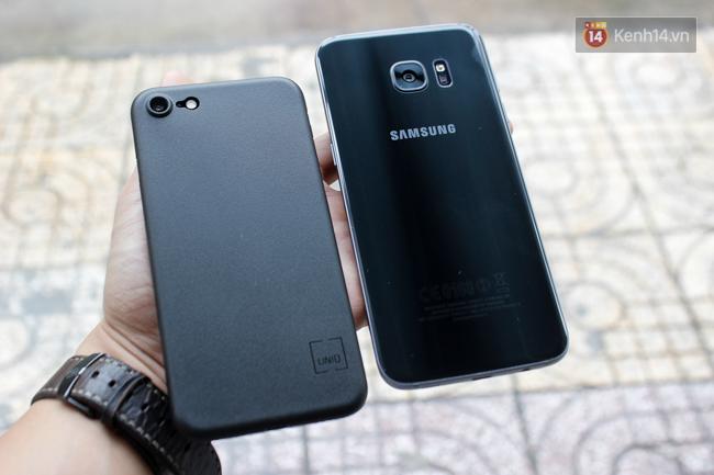 iPhone 7 có màu đen bóng, Galaxy S7 edge mới cũng có, hãy thử đọ dáng xem ai đẹp hơn - Ảnh 16.