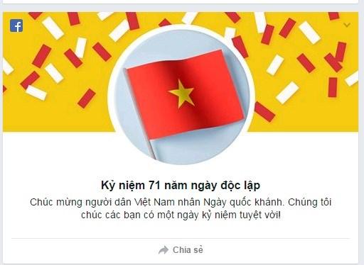 Facebook và Google đồng loạt chào mừng Quốc Khánh Việt Nam 2/9 - Ảnh 2.