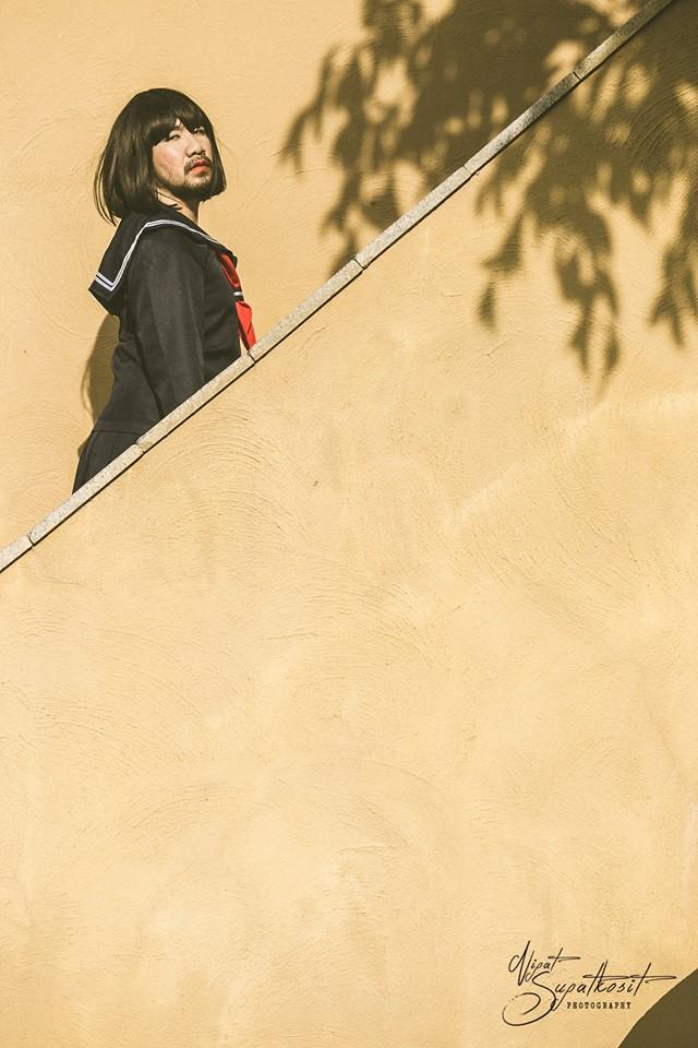 Nét đẹp kiêu sa của chàng béo rậm râu khi vào vai nữ sinh - Ảnh 11.