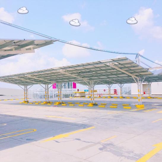 Bãi gửi xe ở Aeon Mall Bình Tân: Địa điểm chụp ảnh mới siêu chất, siêu hot đây rồi! - Ảnh 1.