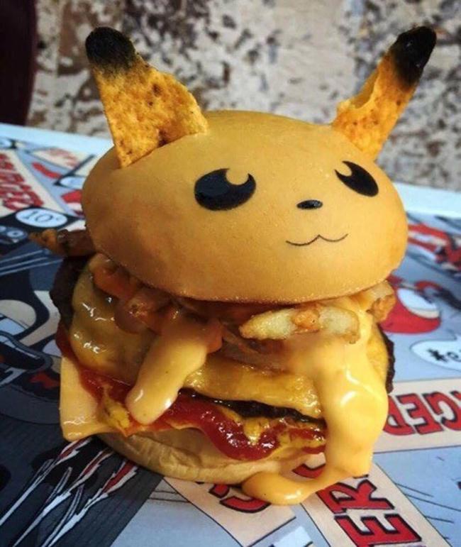 Không phải fan ruột, bạn cũng muốn thưởng thức đủ bộ hamburger Pokémon đã ngon lại còn đẹp - Ảnh 3.