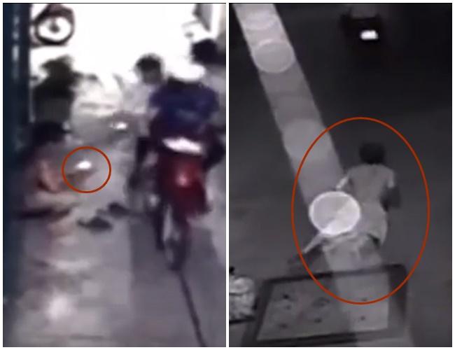 Clip: Nam thanh niên ngã sấp mặt khi đuổi theo hai tên cướp giật điện thoại ở Sài Gòn - ảnh 2