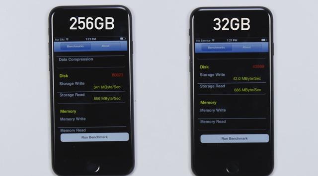 Đừng dại mà mua iPhone 7 dung lượng 32 GB, bởi nó chậm hơn bản 128 GB tới.. 8 lần - Ảnh 2.