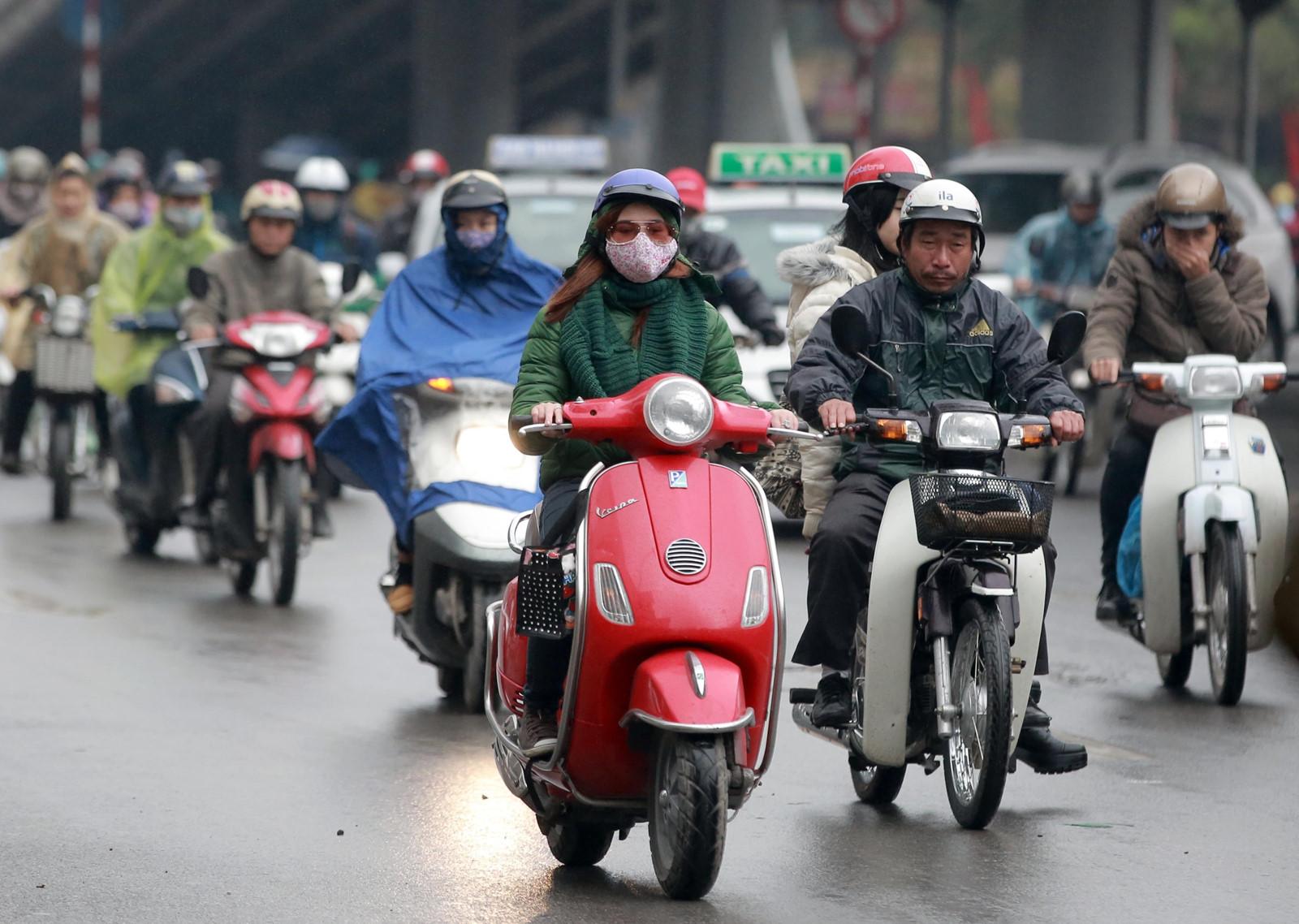 Không khí lạnh tăng cường, Hà Nội tiếp tục mưa rét
