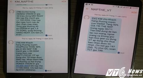 Khuyến mại nạp thẻ sau lệnh cấm của Bộ TT&TT: VinaPhone, Viettel nói gì? - Ảnh 1.