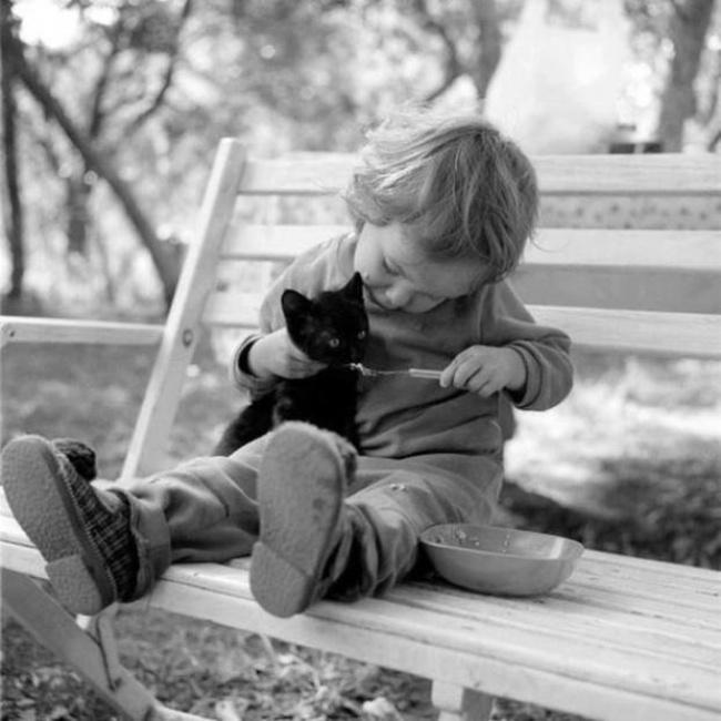 22 tình bạn đáng ngưỡng mộ của trẻ con và thú cưng - Ảnh 12.