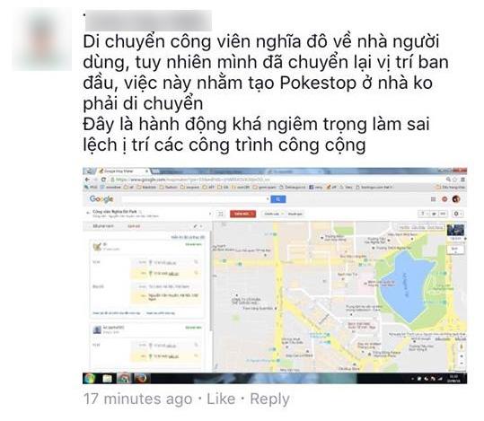 Người chơi Pokemon GO Việt Nam phá hoại dữ liệu Google Maps - Ảnh 2.