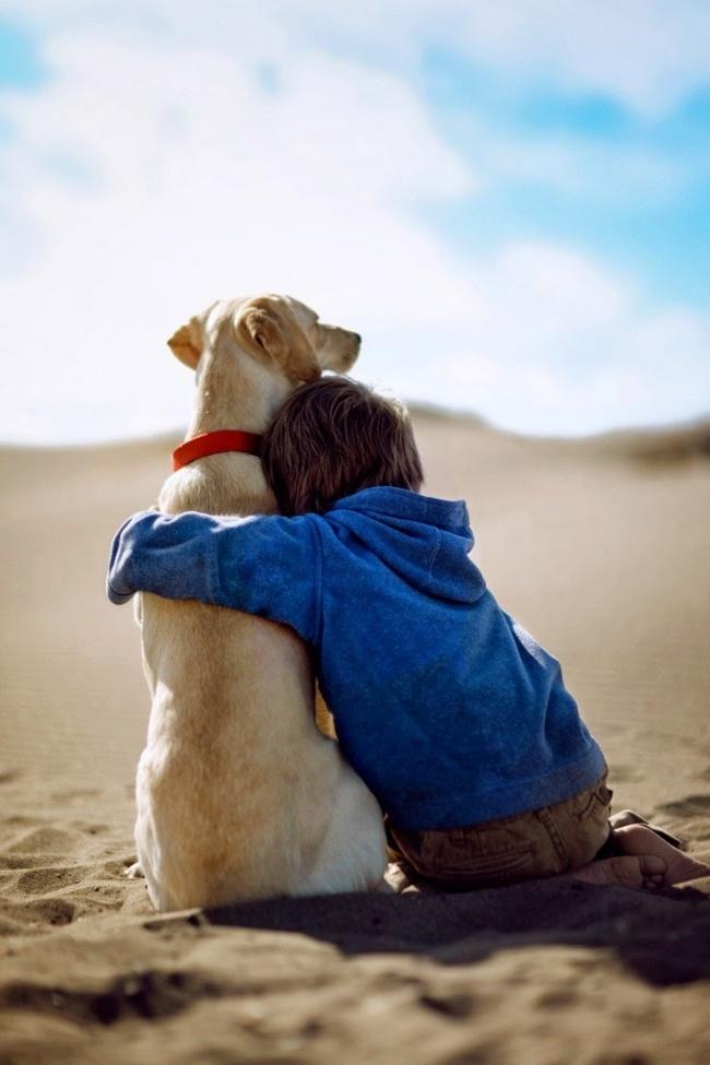 22 tình bạn đáng ngưỡng mộ của trẻ con và thú cưng - Ảnh 22.