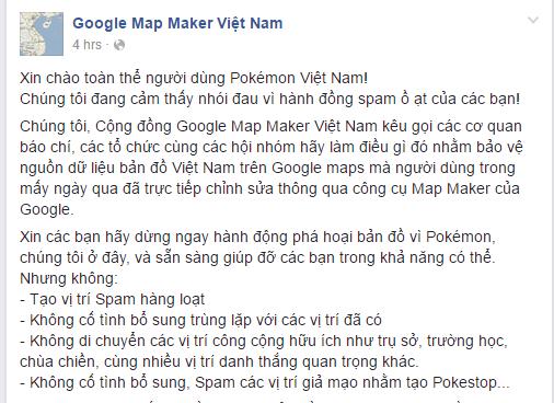 Người chơi Pokemon GO Việt Nam phá hoại dữ liệu Google Maps - Ảnh 3.