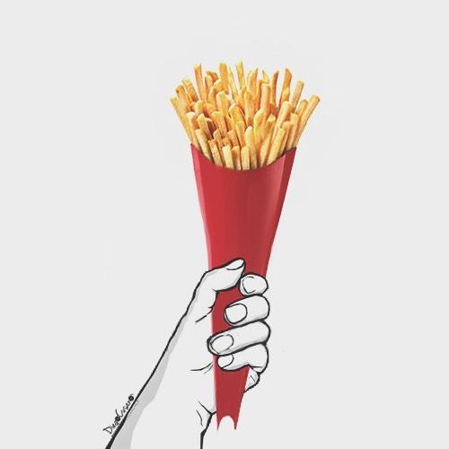 Chán tranh vẽ màu, chàng nghệ sĩ chuyển sang vẽ tranh tương tác ngộ nghĩnh bằng đồ ăn - Ảnh 8.