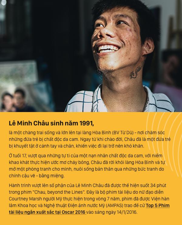 Từ cậu bé khuyết tật ở làng Hòa Bình đến họa sĩ vẽ tranh bằng miệng trong phim tài liệu tranh giải Oscar 2016 - Ảnh 1.