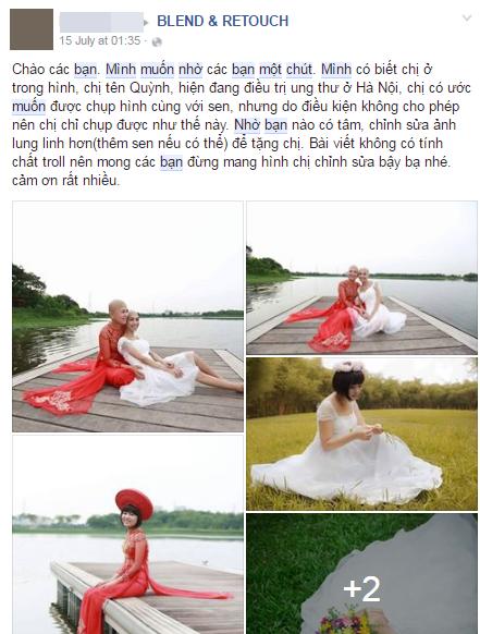 Khi cộng đồng photoshop chung tay đem hồ sen đến với 2 cô gái ung thư máu ở Hà Nội - Ảnh 8.