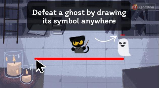 Google chào lễ hội Halloween với trò Pháp sư mèo diệt ma, bạn đã thử chưa? - Ảnh 2.