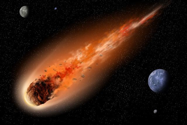 Thiên thạch khi rơi vào bầu khí quyển sẽ tăng áp suất và nhiệt độ, khiến nó nổ tung và phát hỏa