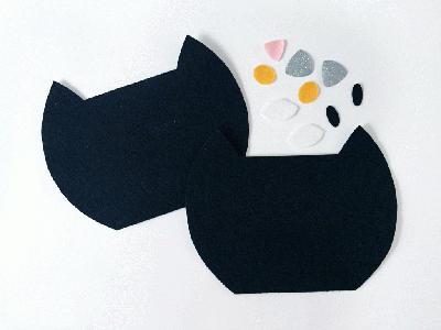 Tự may túi mèo mun cực yêu từ vải dạ - Ảnh 3.