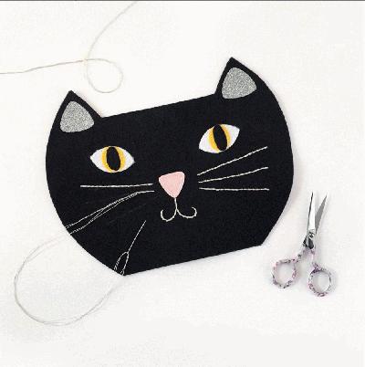 Tự may túi mèo mun cực yêu từ vải dạ - Ảnh 6.